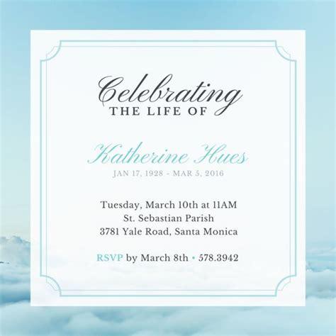Sky Celebration Of Life Invitation Templates By Canva Celebration Of Invitation Template