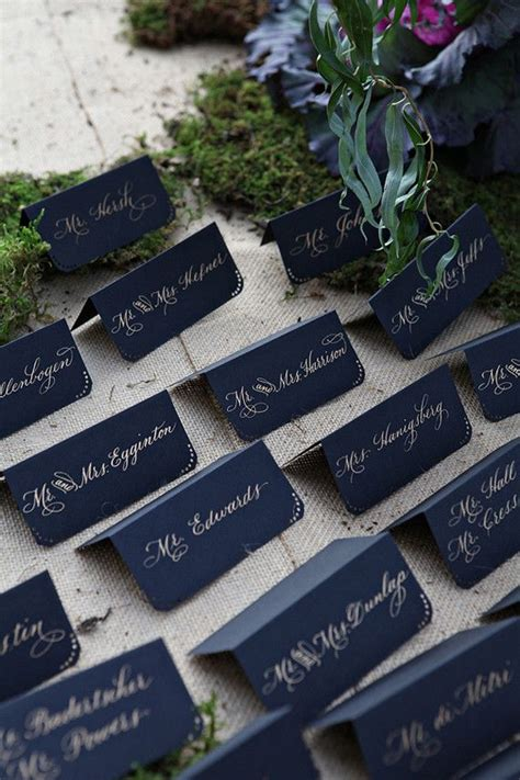 navy blue and gold wedding placecards calligraphy font best 25 blue fall weddings ideas on pinterest navy fall