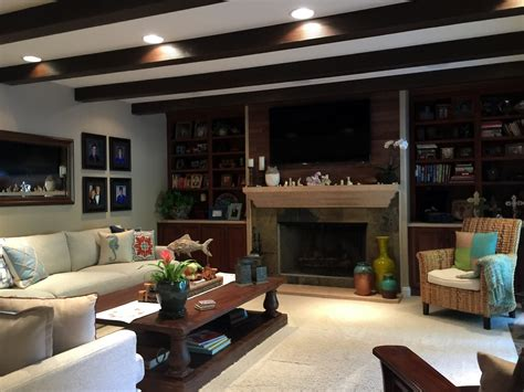 the living room hours pro living room remodel with beams faux wood workshop