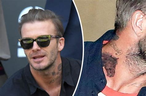 david beckham neck tattoo david beckham sports new mysterious neck daily