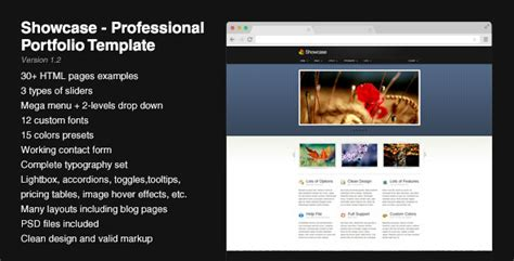 Showcase Professional Portfolio Template Jogjafile Professional Portfolio Website Templates