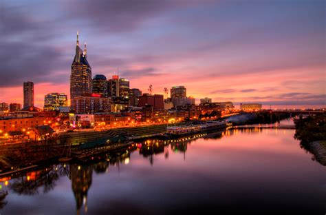 nashville tennessee nashville tennessee skyline fine art print beautiful sunset