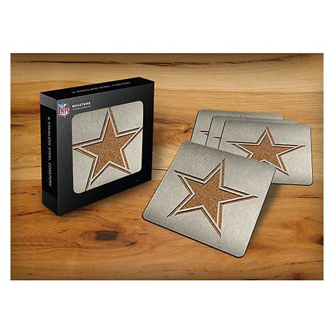 dallas cowboys home decor dallas cowboys stainless steel coasters 4 pack home