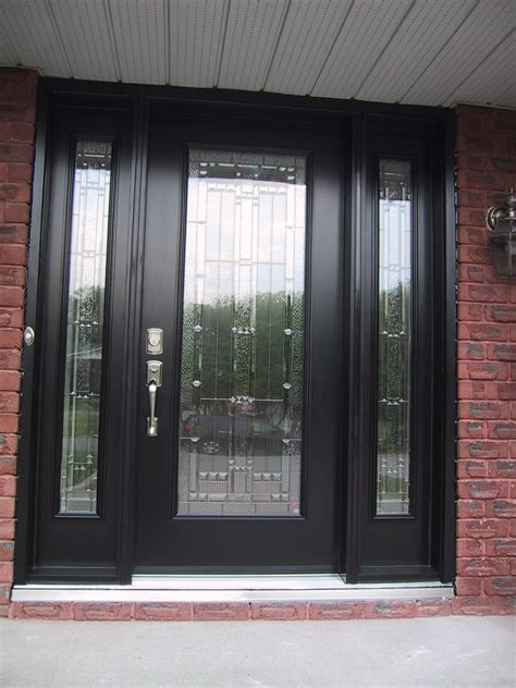 Exterior Steel Door With Window Homeofficedecoration Steel Glass Panel Exterior Door