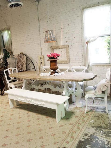 dining table farmhouse dining table shabby chic