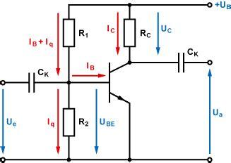 transistor bc547 funktion arbeitspunkteinstellung mit basis spannungsteiler emitterschaltung