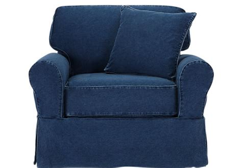 picture  cindy crawford home beachside denim chair  chairs furniture