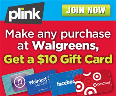 Walgreens Gift Cards Available - walgreens plink hot deal free 10 gift card with any
