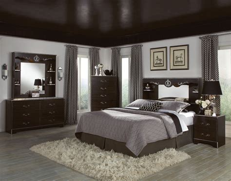 Grey Bedroom With Black Furniture Wood Bedroom Furniture Raya Furniture