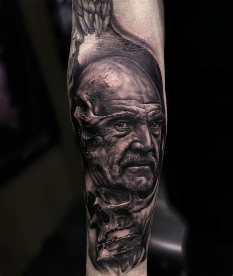 sean connery tattoo connery skull by ralf nonnweiler tattoonow