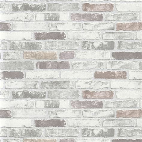Brown And Orange Home Decor by Erismann Brix Brick Wall Effect Embossed Textured