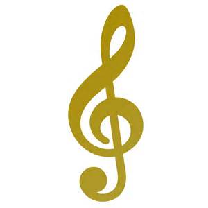 Treble clef wall decal music wall sticker