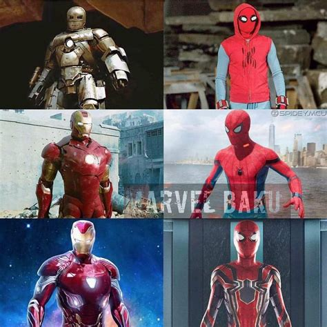 evolution spider man iron man marvelstudios