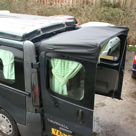 Rear Door Awning by Barn Door Awning For Vivaro Trafic Black Awnings