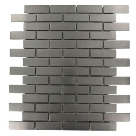 brick pattern mosaic tile splashback tile stainless steel brick pattern 12 in x 12