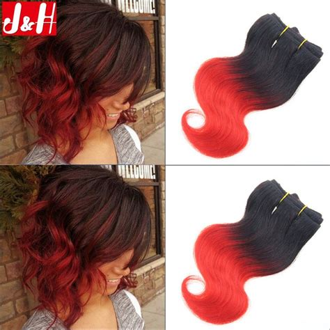 hair weave for feathered ombre hairstyle for african american only 6pcs 300g brazilian ombre short hair extensions 8inch 1b