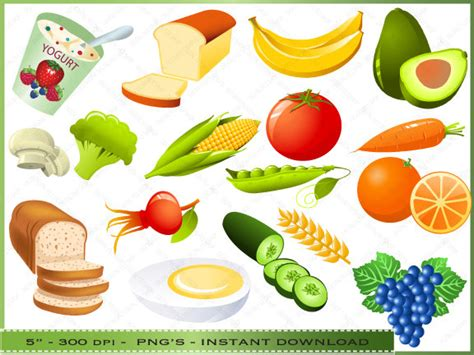 clipart food collage clipart food pencil and in color collage