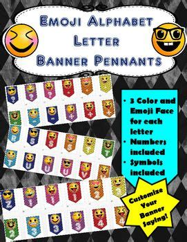 printable alphabet banner for classroom emoji banner alphabet letters numbers and more emoji