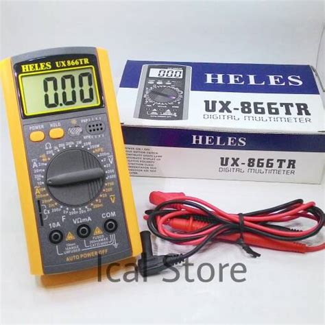 jual multimeter multitester digital heles ux 866 tr di