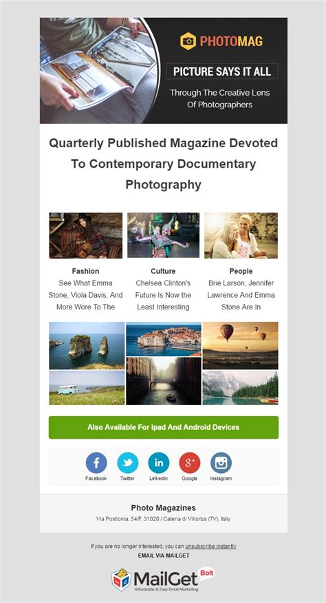 9 Best Photographer Email Templates For Photo Studios Mailget Free Email Templates For Portrait Photographers