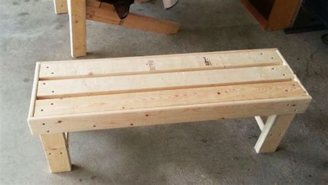 easy benches to build diy easy to build bench myoutdoorplans free