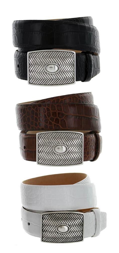 crossweave buckle s designer leather dress belt 1 3 8