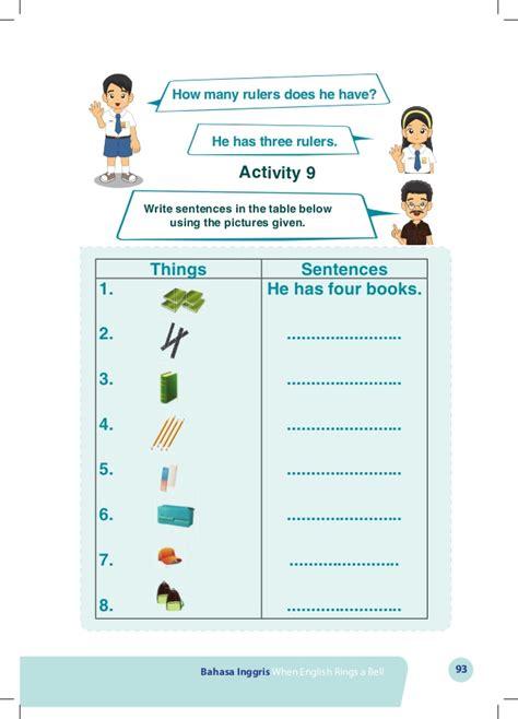 buku bahasa inggris kelas   english rings  bell