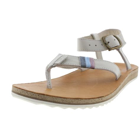 leather strappy sandals teva 0072 womens leather strappy sandals shoes bhfo