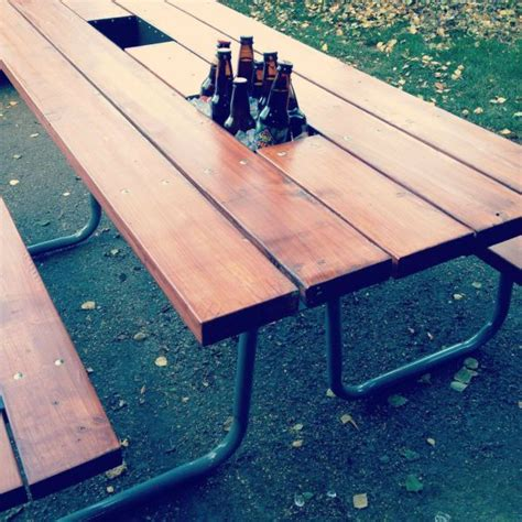 Patio Cooler Table Best 20 Picnic Table Cooler Ideas On Pinterest