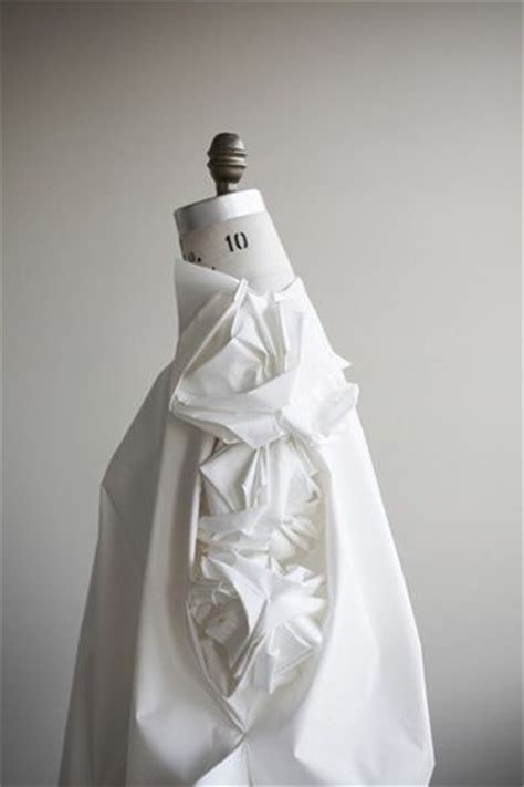 Origami Fashion Designers - innovative textiles design origami dress that