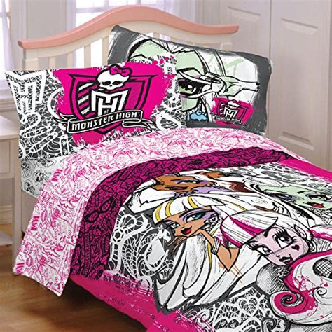 monster high bed set monster high twin comforter with a pillow sham set bedding for kids