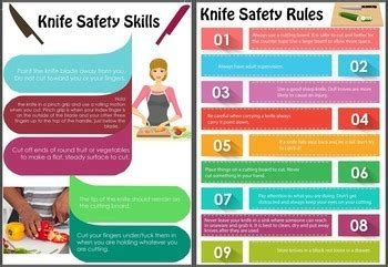 knife safety skills poster cooking with kids by debbie madson tpt knife safety skills poster cooking with kids by debbie
