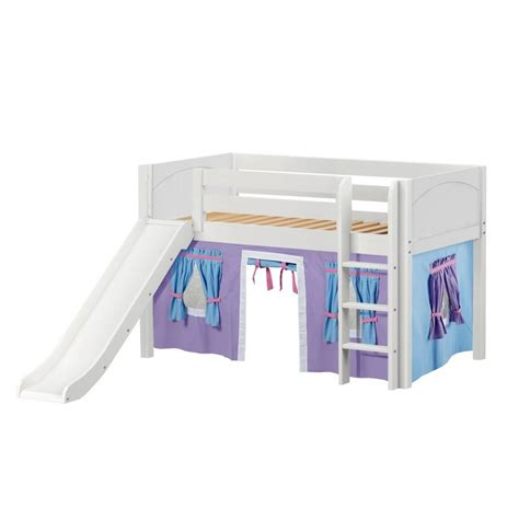 low loft bed with slide maxtrixkids pit27 wp low loft bed with straight ladder