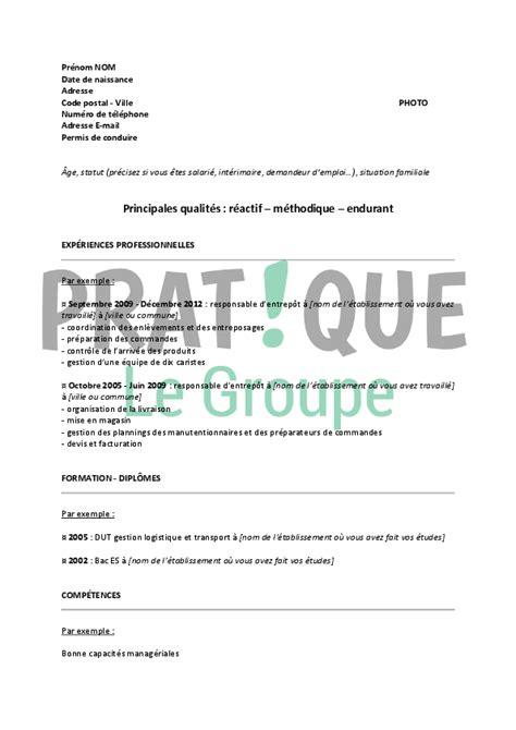 Exemple De Lettre De Motivation Cariste Exemple Cv Cariste D Entrepot Cv Anonyme