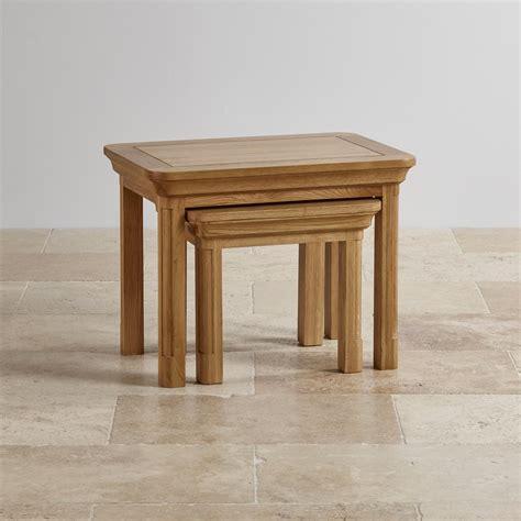 oak nest of tables canterbury solid oak nest of tables oak furniture land