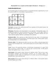 Biology Study Guide - 6.3 IB - Biology Study Guide 6.3