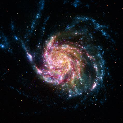 space images pinwheel galaxy rainbow