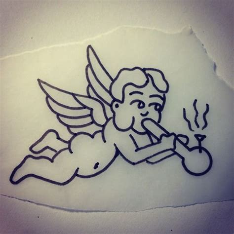 smoking weed tattoo designs cherub bong ideas