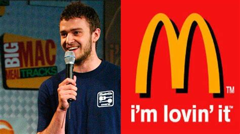 Justin Aint Lovin It by You Won T Believe Who Wrote The Mcdonald S I M Lovin It