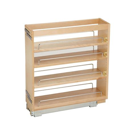 wood roll out cabinet shelves rev a shelf 25 48 in h x 6 5 in w x 22 47 in d pull out