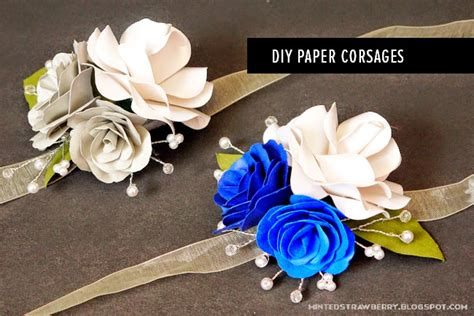 How To Make Paper Boutonniere - time paper flower corsages minted strawberry