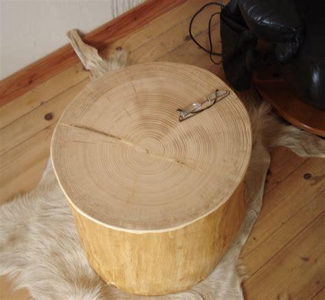 Baumstamm Als Tisch by Baumstamm Als Beistelltisch