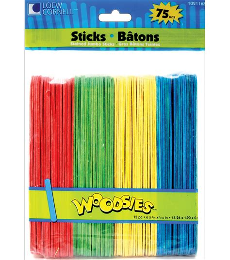jumbo craft sticks projects loew cornell woodsies jumbo craft sticks assorted colors