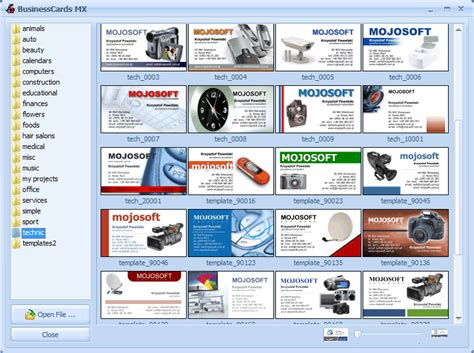 templates for business card mx creare biglietti da visita becomegeek