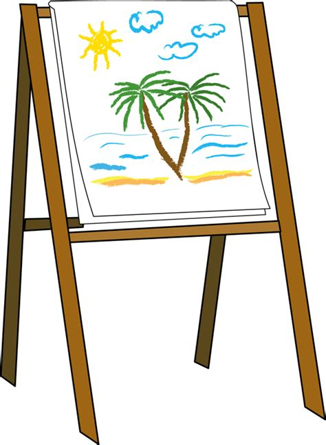 free doodle board easel clip cliparts co
