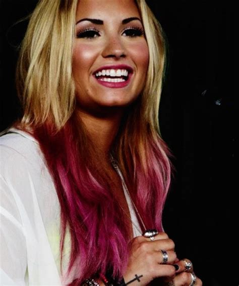 demi lovato inspired pink purple dip dye ombre hair demi lovato pink dip dyed hair the fashion tag blog