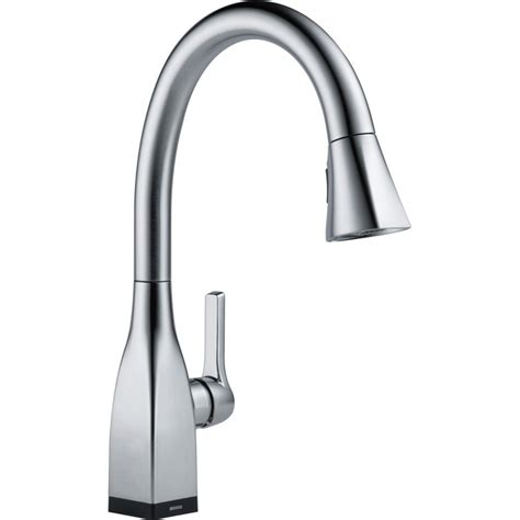 kitchen faucets delta delta faucet 9183t ar dst mateo arctic stainless pullout spray kitchen faucets efaucets