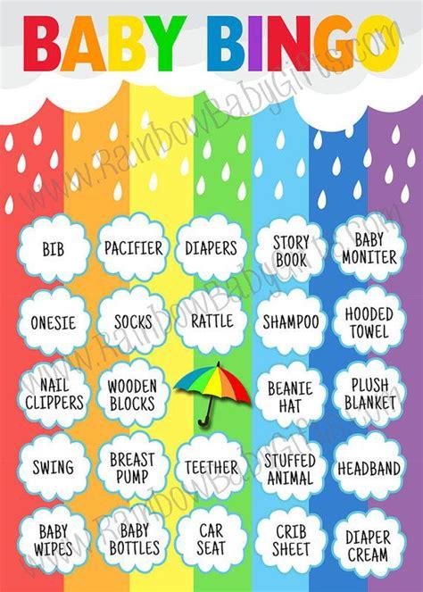 Printable Baby Shower Bingo Board by Best 20 Baby Shower Bingo Ideas On