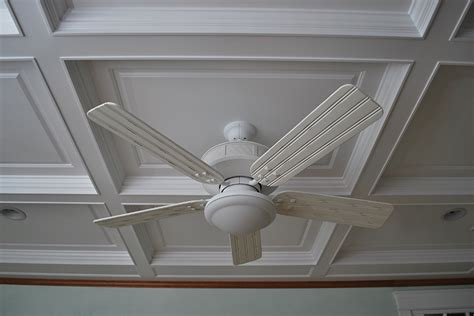 Coffered Ceiling Fan Wainscoting America Customer Coffered Ceilings