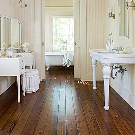 Hardwood Floor Bathroom Wood Floors Bathrooms